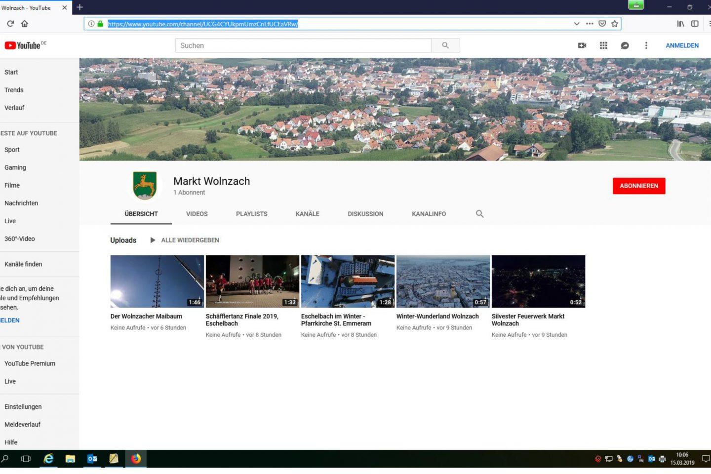 YouTubeKanal Wolnzach