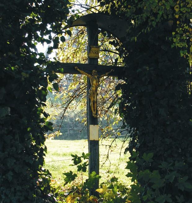 Feldkreuz im Lehrpfad